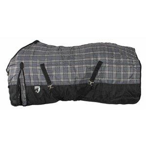 Horka Staldeken 1200D, zwart/wit/grijs/blauw maat 135 cm