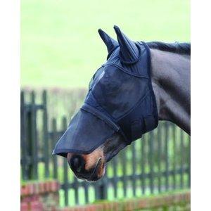 Shires Vliegenmasker met neusstuk zwart Pony