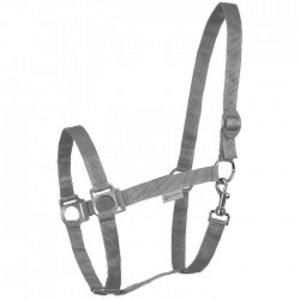 Halster equi grijs met schuif Extra Full / Trekpaard