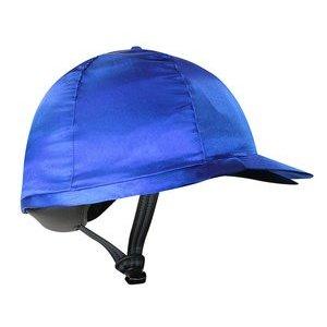 Nylon kap voor helm koningsblauw