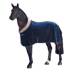 Pfiff Fleece deken met kraag navy maat 215