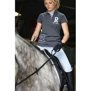 After Riding Poloshirt Polo Collection 3 Grijs-lichtblauw maat S