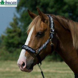 Bucas Comfort halster Zebra-zwart Extra Full
