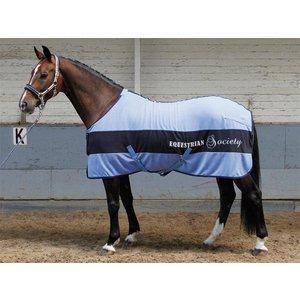 Harry's Horse Fleece deken Banner Della Robbia Blue 215 cm