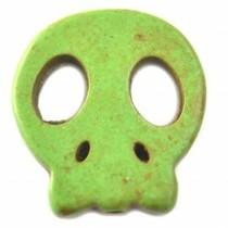Multicolor Turquoise platte skull kraal 20mm
