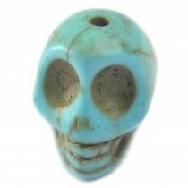 Multicolor Turquoise skull kraal 12x10mm