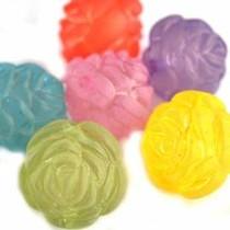 Multicolor Acryl kralen roos mat 24mm