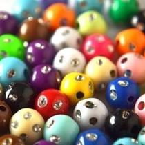 Multicolor Acryl kralen rond bling 8mm