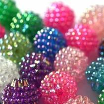 Multicolor Acryl resin kralen berry gemixt 15mm - 10 stuks