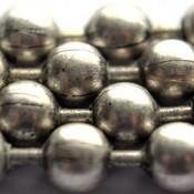 Zilver Ballchain antiek zilver 1.2mm