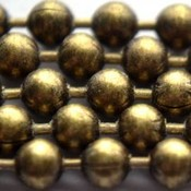 Antiek Goud Brons Ballchain brons 1.0mm
