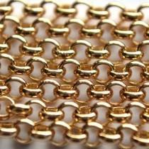 Goud Jasseron goud 2mm - prijs per 10cm