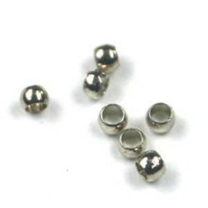 Zilver Knijpkralen zilver 2,0mm  - 75 stuks
