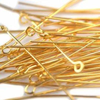 Goud Kettelstiften goud 70mm - 50 stuks