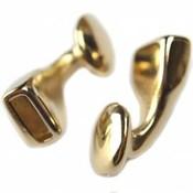 Goud leersluiting eindkap Ø10x3mm metaal goud DQ