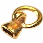 Goud Eindkap sluiting Ø10x5mm goud DQ