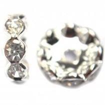 Zilver Strass rondel crystal vanaf 4mm