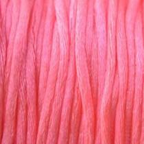 Roze Satijnkoord fluor pink 2mm - per meter