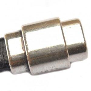 Zilver Magneetsluiting Ø10x6mm zilver DQ