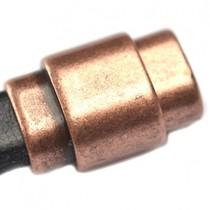 Koper Magneetsluiting Ø10x6mm koper DQ