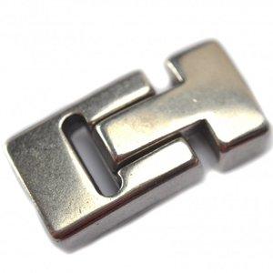 Zilver Magneetsluiting Ø13x5mm zilver DQ