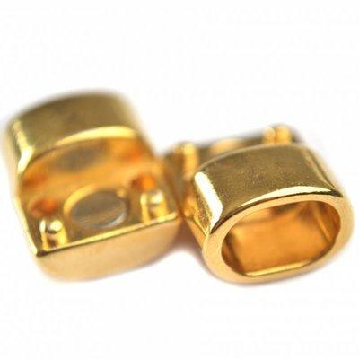 Goud Magneetsluiting Ø10x6mm metaal goud DQ 23x16mm