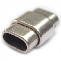 Zilver Magneetsluiting Ø10x5mm zilver DQ