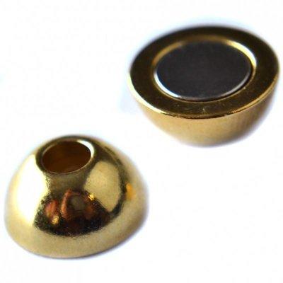 Goud Magneetsluiting Ø4mm metaal goud DQ 12mm