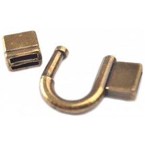 Antiek Goud Brons Sluiting Ø10x2.5mm brons DQ