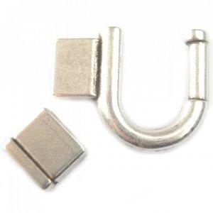 Zilver Sluiting Ø10x2mm zilver DQ