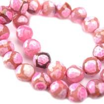 Roze Agaat facet roze 10mm