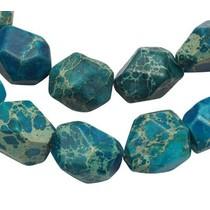 Turquoise Regalite Jasper turquoise blauw ±15x12mm