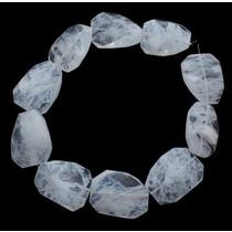 Wit Quartz geslepen crystal wit 30x40mm