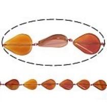 Oranje Agaat druppel oranje rood 32x38mm