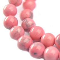 Roze Turquoise rond licht roze 6mm