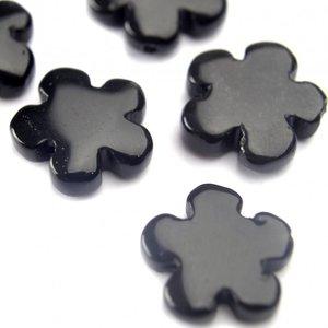 Zwart Obsidiaan bloem zwart 15mm