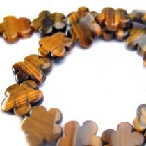 Bruin Tijgeroog bloem bruin 15mm