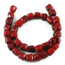 Rood Koraal tonnetje rood ±12mm