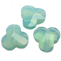 Turquoise Quartz facet bloem turquoise groen opaal 12mm