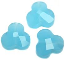 Blauw Quartz facet bloem aqua opaal 12mm