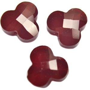 Rood Quartz facet bloem rood 12mm