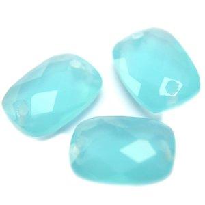 Blauw Quartz facet tussenzetsel aqua opaal 14x10mm