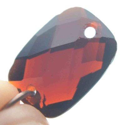 Bruin Quartz facet tussenzetsel donker bruin 14x10mm
