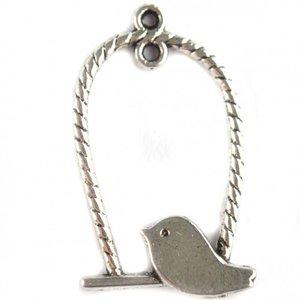 Zilver Bedel vogel schommel zilver 32x18