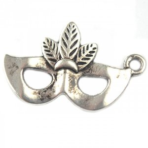Zilver Bedel masker zilver 25x15mm