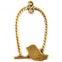 Goud Bedel vogel schommel goud 32x18mm