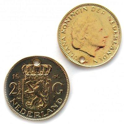 Goud Bedel munt rijksdaalder metaal goud DQ 27mm