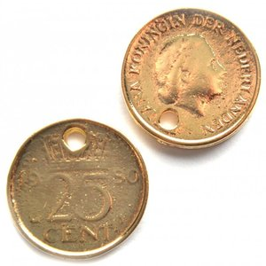 Goud Bedel kwartje goud DQ 18mm