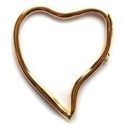 Goud Bedel hart metaal goud DQ 44x52mm