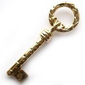Goud Bedel sleutel metaal goud DQ 73mm